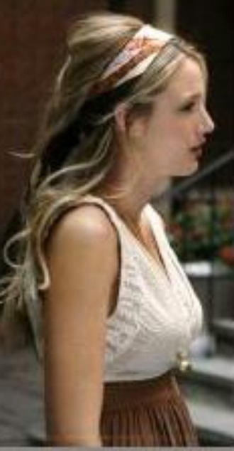 dress hair accessory hair gossip girl blake lively serena van der woodsen style scarf head scarf