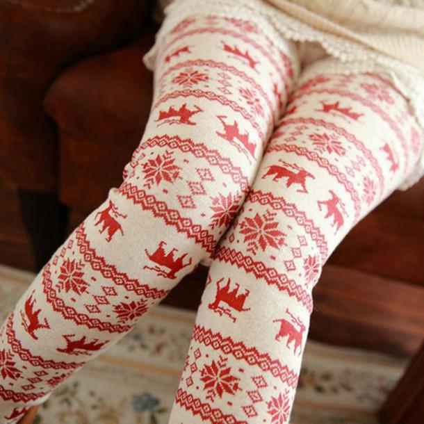 tights leggings christmas leggings