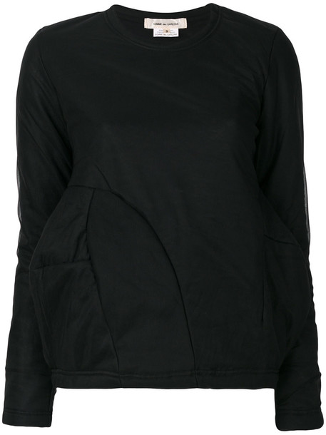 Comme des garcons sweatshirt women black sweater