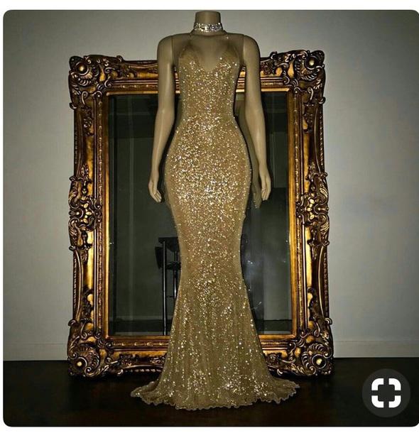 dress gold dress