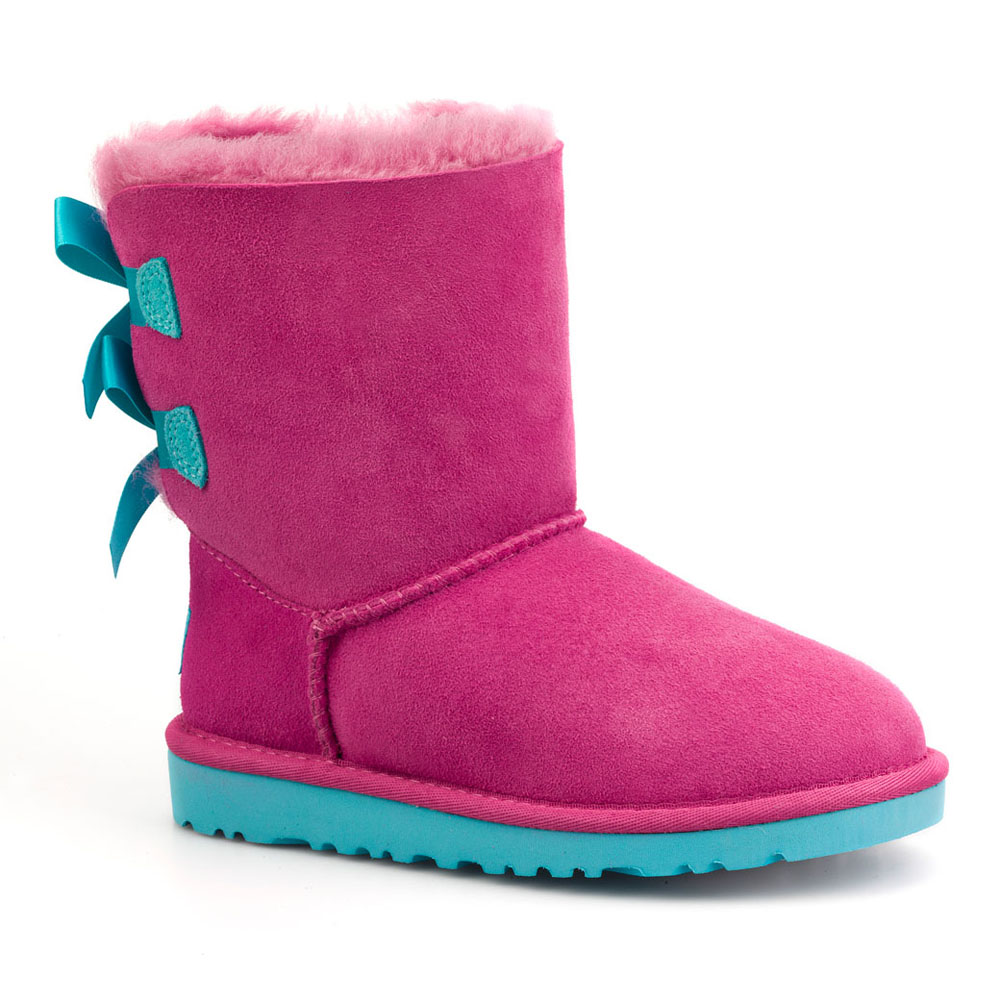 pink ugg boots with blue bows. Black Bedroom Furniture Sets. Home Design Ideas