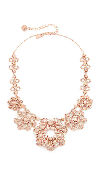 rose gold rose necklace lace gold jewels