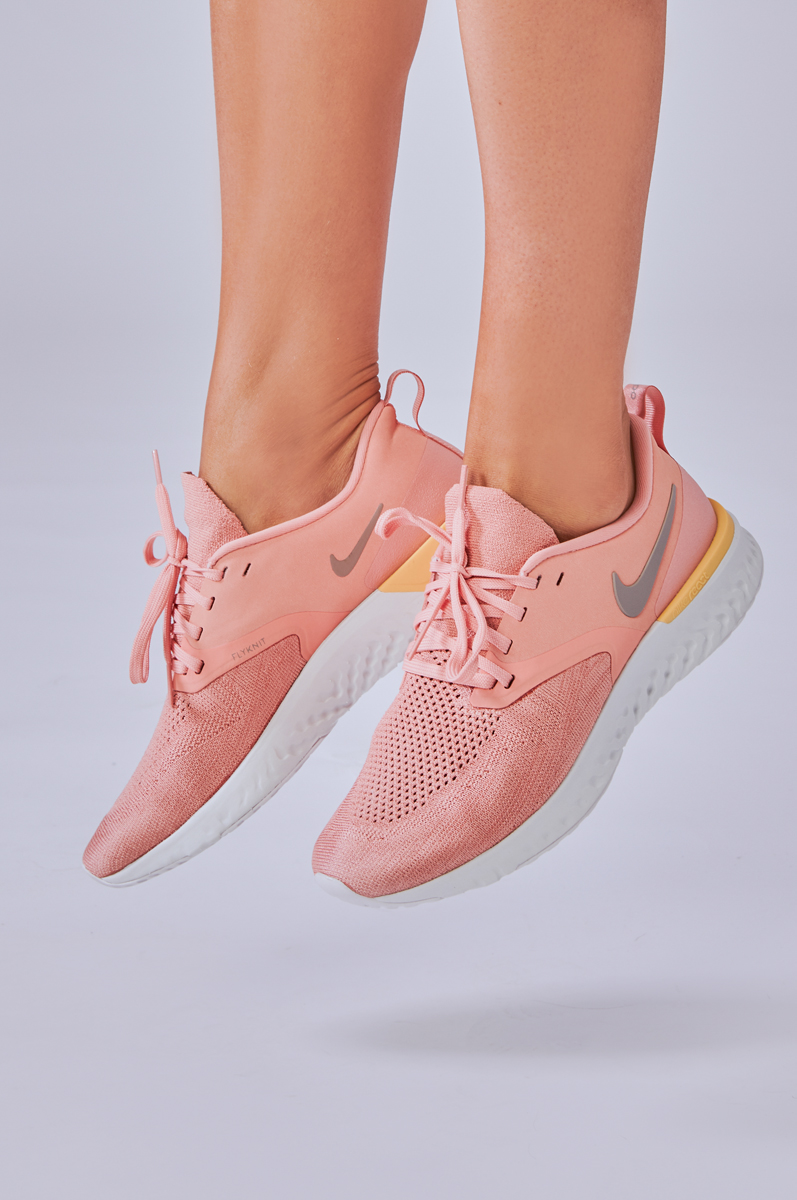 Nike Odyssey React Flyknit 2 in Pink Quartz, Pumice and Platinum Tint