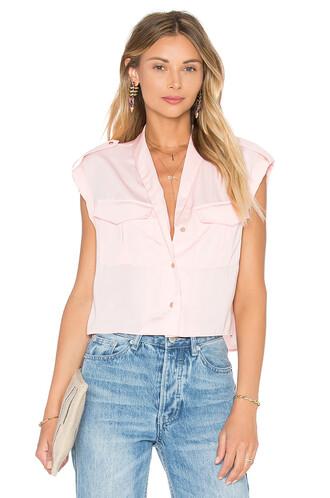 blouse top blush