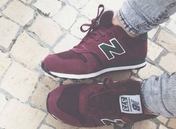 shoes 373 burgundy new balance sneakers red black shoes new balance sneakers