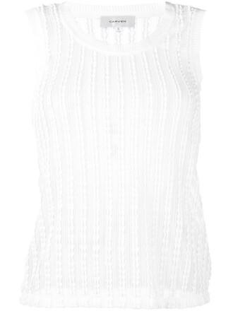 top vest top women spandex white