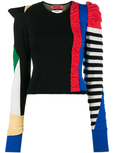 sweater wool sweater patchwork women wool