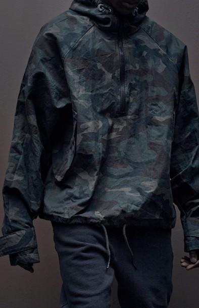 jacket windbreaker camouflage menswear urban menswear