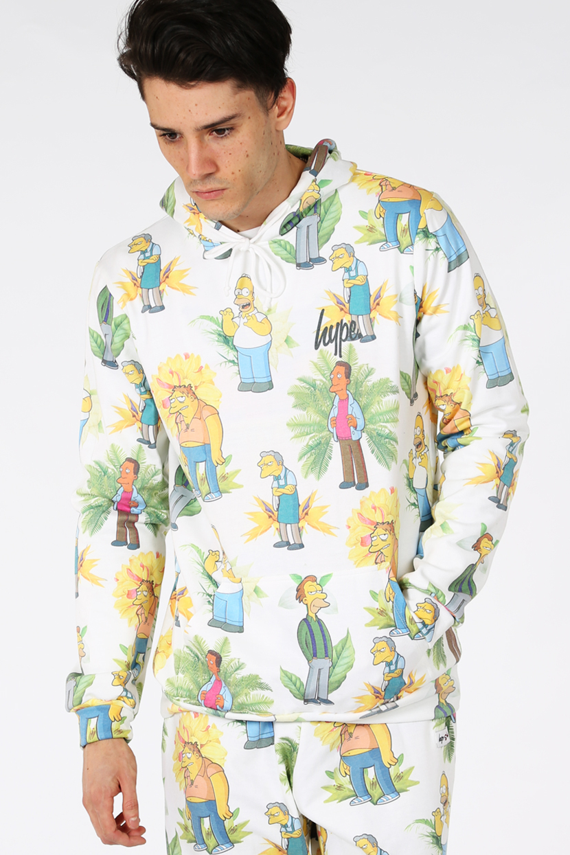 Hype x simpsons. bar boys floral hoodie
