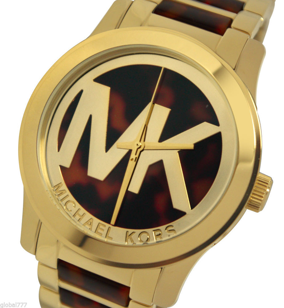 Michael Kors Runway Brown Dial Gold Tone Steel and Acetate Ladies Watch MK5788 796483013230 | eBay