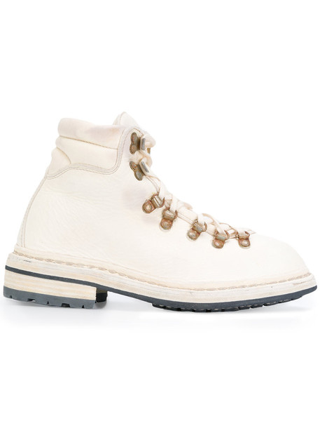 Guidi boot women leather white shoes