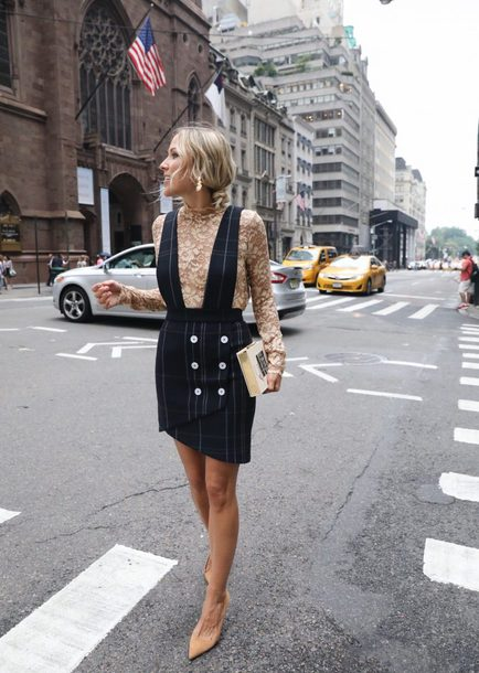skirt tumblr mini skirt black skirt skirt with suspenders top lace top nude top pumps pointed toe pumps suede pumps bag clutch shoes