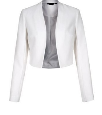 jacket cropped blazer white blazer professional