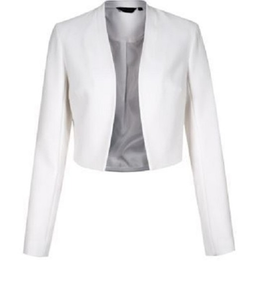 jacket white blazer cropped blazer professional business sexy clothes