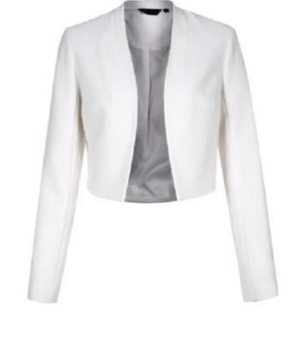 jacket cropped blazer white blazer
