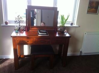 home accessory dresser dressing table desk wood mirror furniture home house accessory dresser table bedroom home decor room goals room accessoires