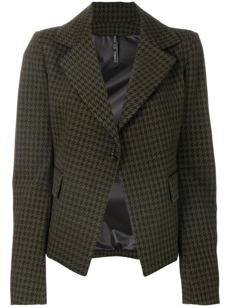 Plein Sud blazer women spandex green jacket