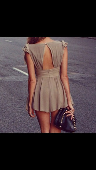 dress short brown fashion