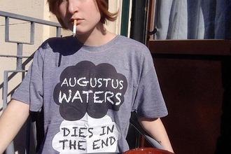 shirt augustus waters grunge smoking