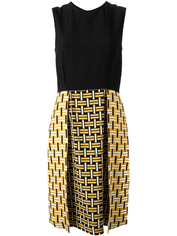 dress farfetch geometric print fendi