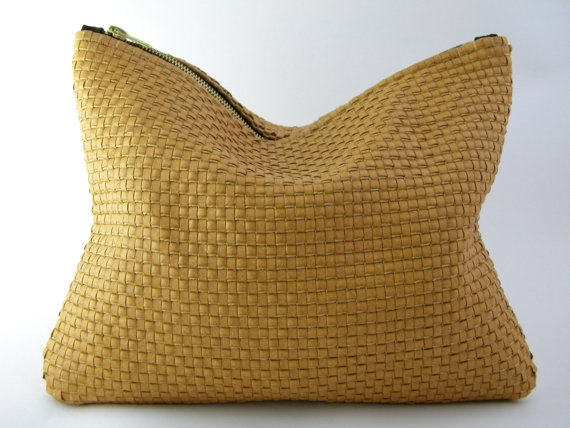LAST ONE  Woven Statement Clutch by lovecortnie on Etsy