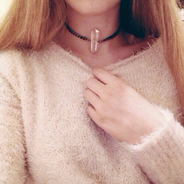 jewels choker necklace crystal quartz necklace