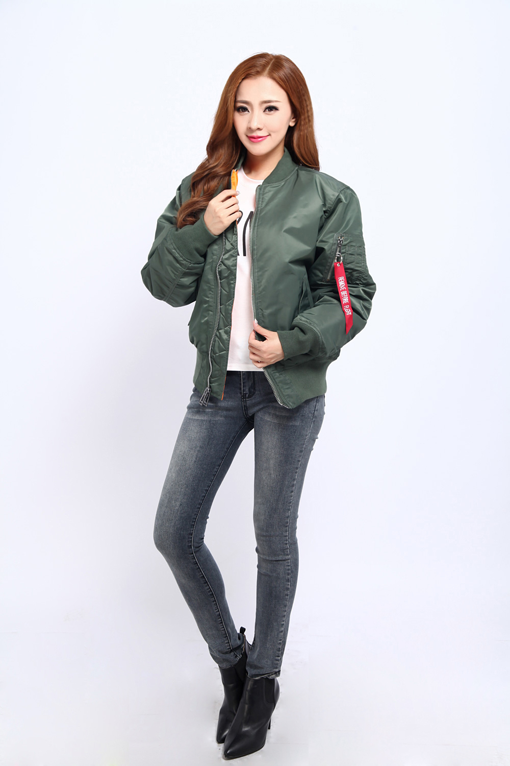 MA1 Jacket Black Military Air Force MA 1 Coat Flight jacket ...