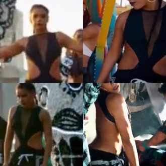 jumpsuit la love fergie music video bodysuit