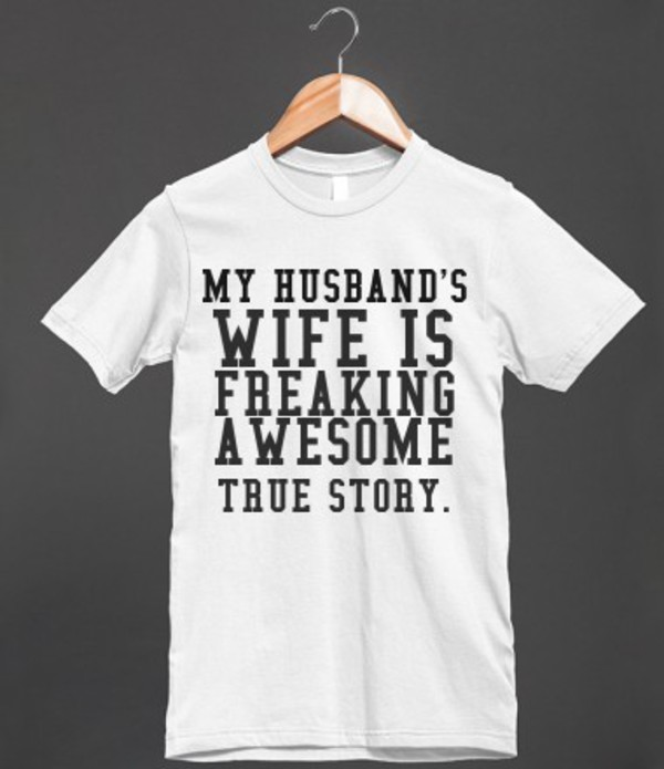 t-shirt clothes wife wedding bride souse spouse funny funny joke quote on it t-shirt