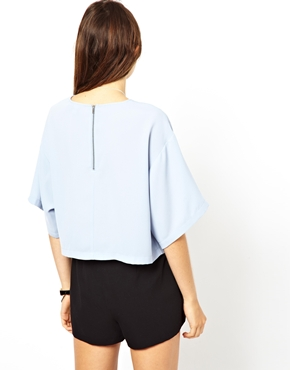 ASOS | ASOS Crop Top with Boxy Kimono Sleeve at ASOS