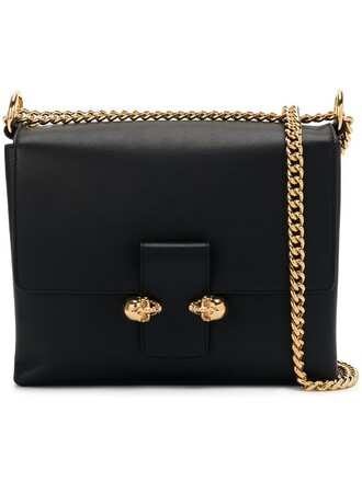 satchel skull women black bag