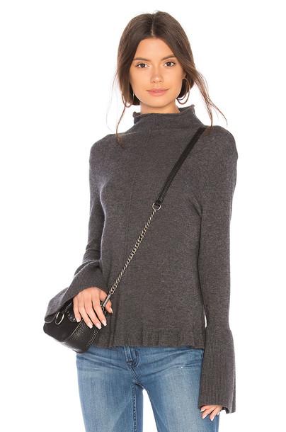BROWN ALLAN sweater ruffle sweater ruffle