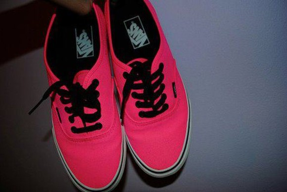 pink universe shoes vans glow neon red lovely converse pink shoes black fluo summer