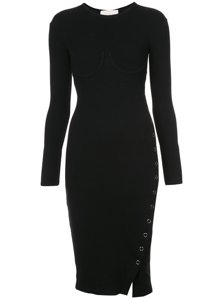 Fleur du Mal dress knitted dress women slit spandex black