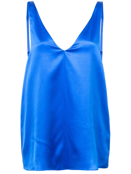 Tibi camisole women v neck blue silk underwear