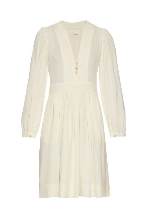 ef1576d0b9 Neil V-neck crepe dress   Isabel Marant Étoile   MATCHESFASHION ...