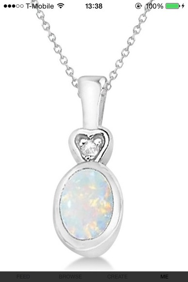jewels necklace opal chain
