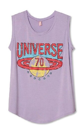 top universe violet purple print retro vintage 90s style grunge t-shirt grunge grunge top tumblr