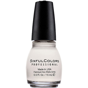Walmart: Sinful Colors Professional Nail Polish, Snow Me White, 0.5 fl oz