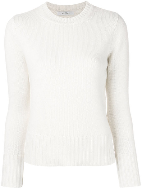 Max Mara jumper women white sweater