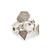 Luv Aj The Pave Shield Ring Set - Silver Ox