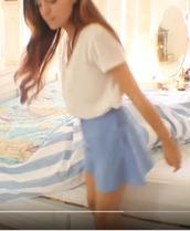 shorts,blue,loose,marzia,cutiepiemarzia,cute,nice,pretty,hot,summer,light,sky,boho,shirt,blouse,baggy,top,long