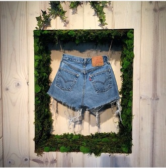 shorts levis denim blue love fashion style