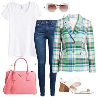 dailystylefinds blogger t-shirt sunglasses jacket bag jeans shoes