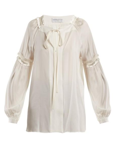 Amanda Wakeley blouse silk satin top
