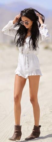 jumpsuit,white,summer,white jumpsuit,summer outfits,boho chic,boho
