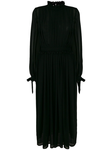 MSGM dress maxi dress maxi pleated women black