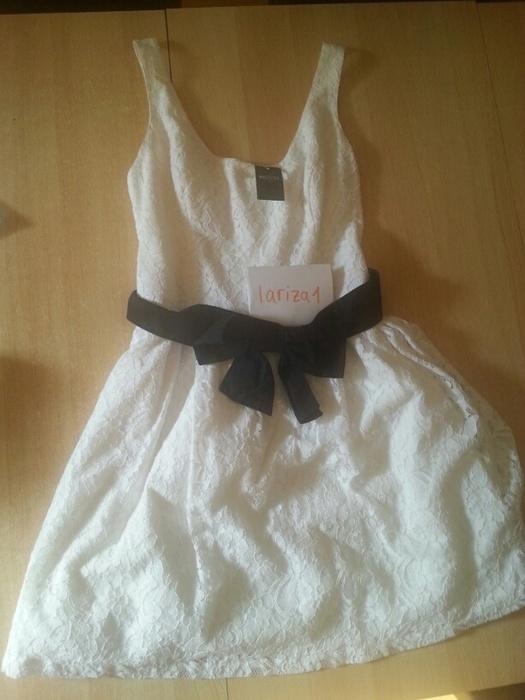 Hollister Kleid weiß und blau