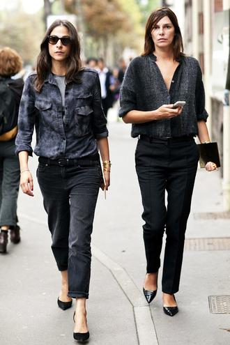 le fashion image blogger shirt jeans pants