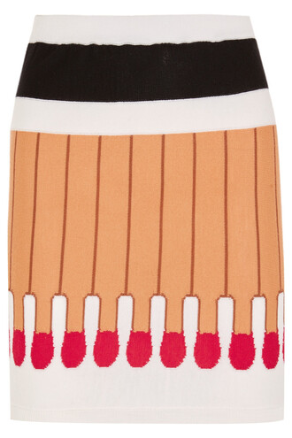 skirt mini skirt mini wool beige red